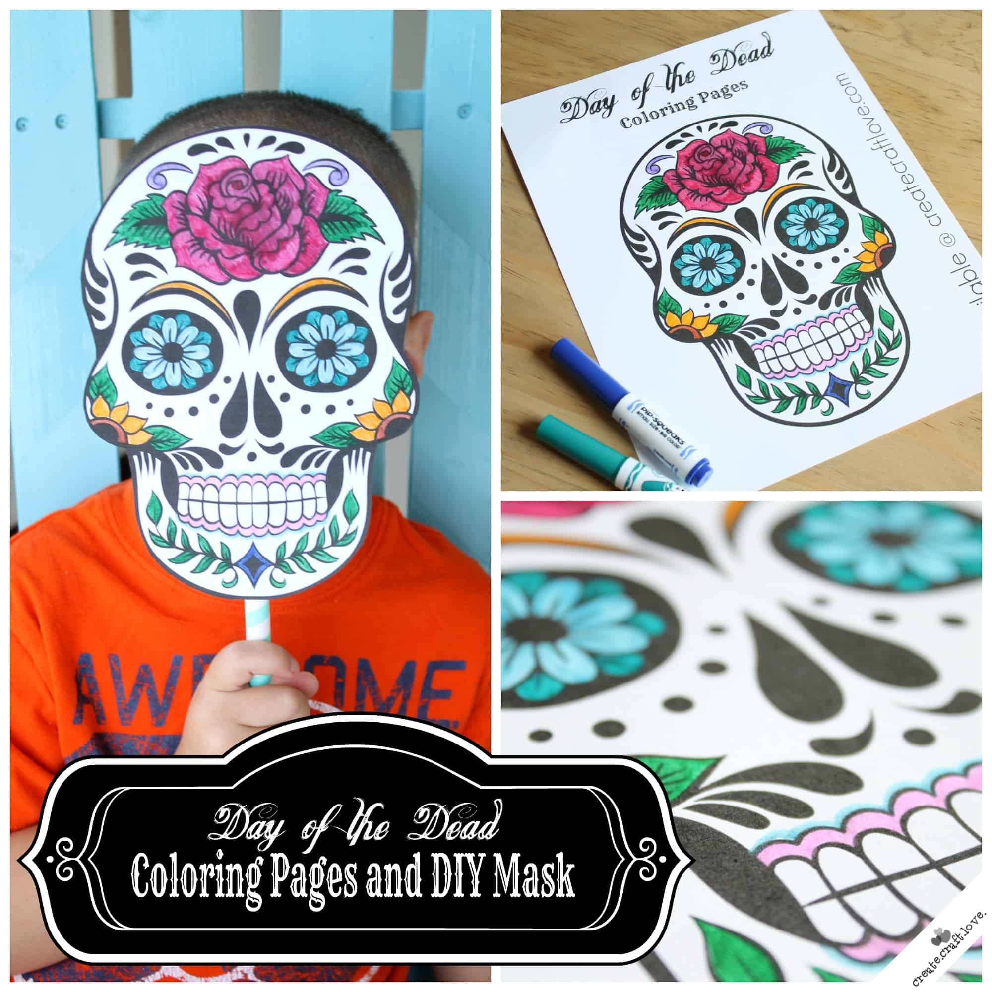 - Day Of The Dead Mask Printable