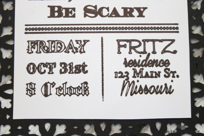 Design your own Gothic Halloween Invitations and let the Cricut Explore do the rest! #halloween #gothichalloween #cricutteam5 #designspacestar