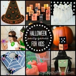 Create your own memories with these fun Halloween Party Games for Kids! via createcraftlove.com #halloween
