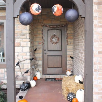 Classic Orange and Black Halloween Porch