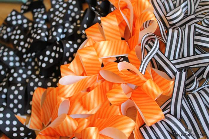 halloween ribbon wreath 2