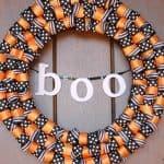 halloween ribbon wreath horizontal
