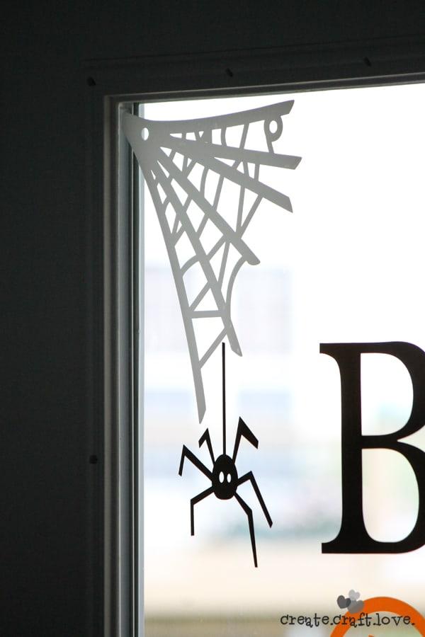 halloween window clings webs