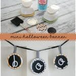 mini halloween banner vertical