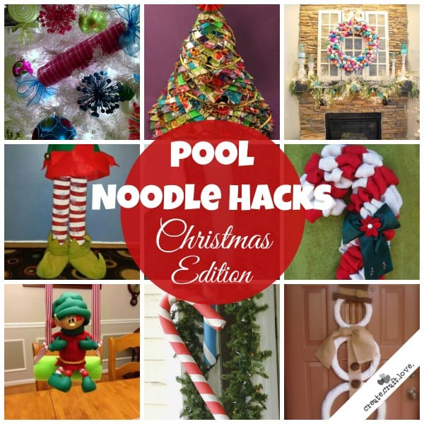 Pool noodle hacks christmas edition for Outdoor decorating hacks