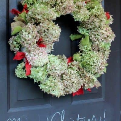 Dried Hydrangrea Christmas Wreath