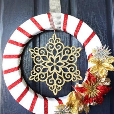 Glittery Holiday Wreath