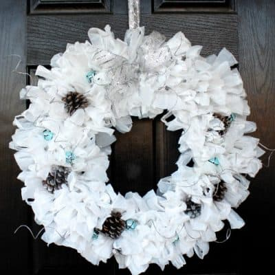Upcycled Winter Wreath
