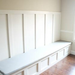 How to Upholster a Banquette Bench via createcraftlove.com