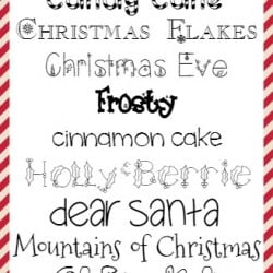 The BEST Christmas Fonts via createcraftlove.com