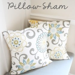 If you can sew four straight lines, you can create your own Easy Pillow Sham Cover too! via createcraftlove.com