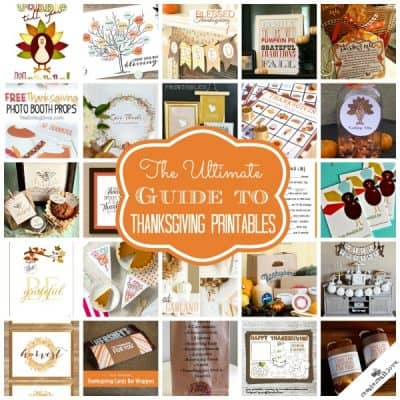 The ULTIMATE Guide to Thanksgiving Printables via createcraftlove.com