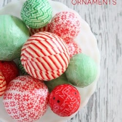 Get the kids involved in creating your own handmade Christmas with these Washi Tape Ornaments! ! via createcraftlove.com