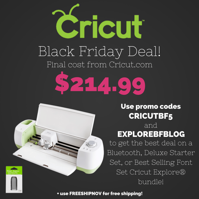 Lovin' all the Cricut Black Friday Deals!!