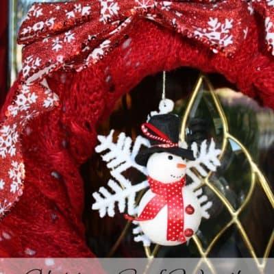 Christmas Scarf Wreath