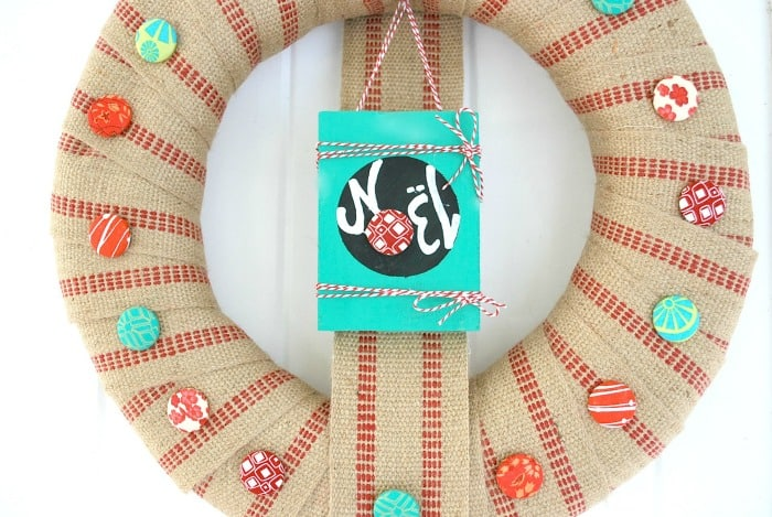 Covered Button Wreath 9
