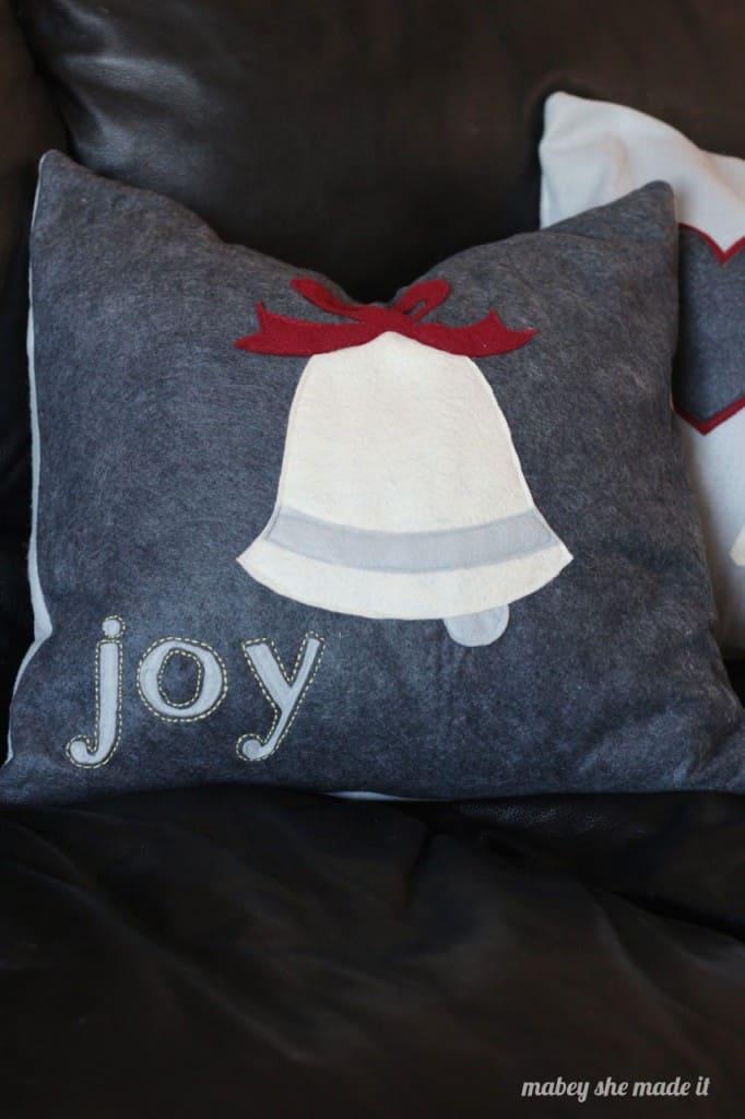 joy felt pillow sham