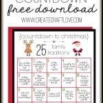 Christmas Traditions Printable to remind us to slow down and savor the holiday and Christmas season! via createcraftlove.com