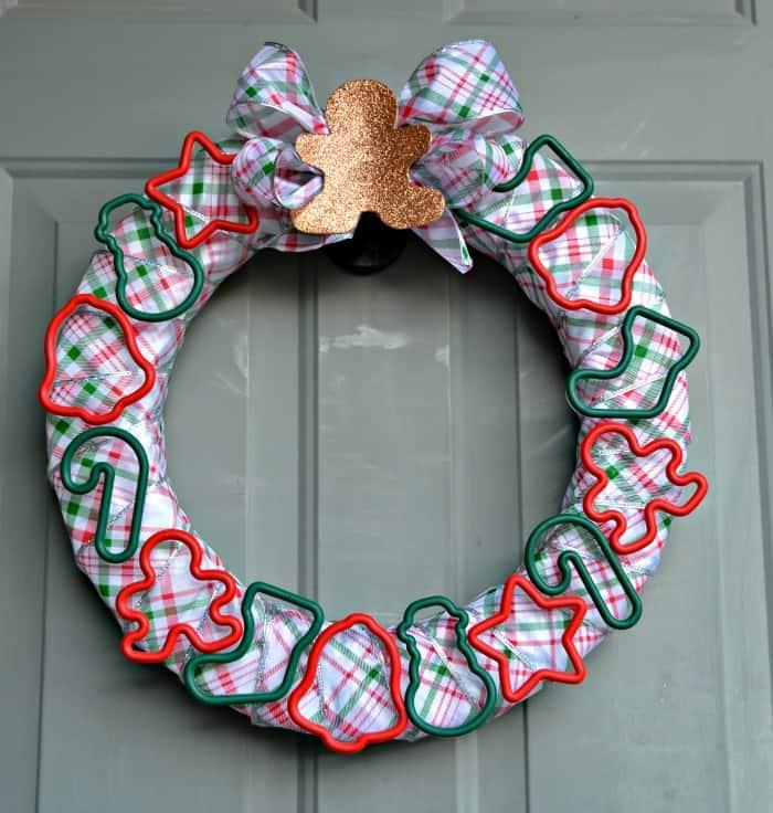 Square cookie cutter wreath