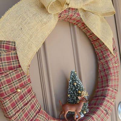 Woodland Plaid Winter Wreath