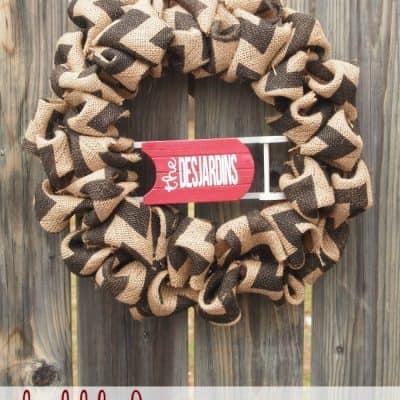 Bubbled Burlap Wreath