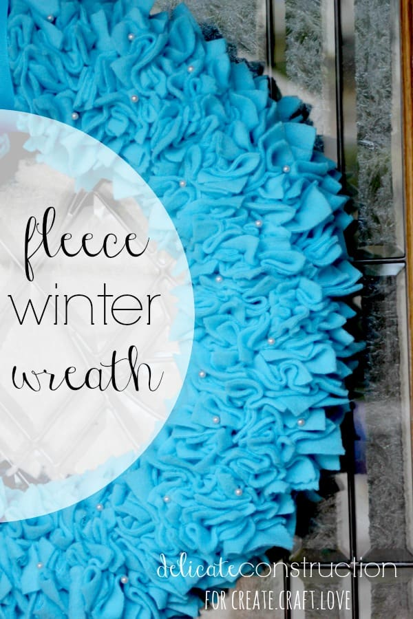 fleece winter wreath