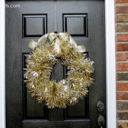 Golden Bling Wreath