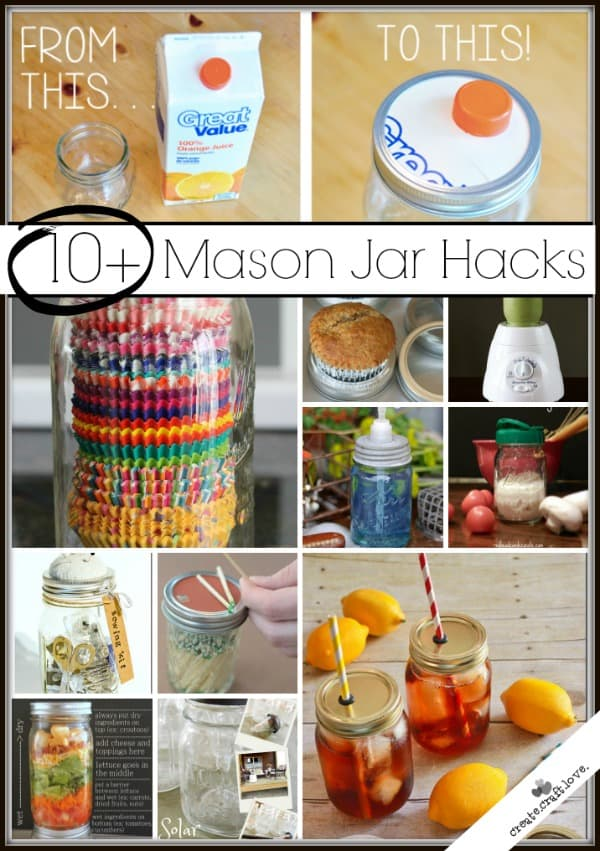 Here are 10+ Mason Jar Hacks that you cannot live without!  via createcraftlove.com