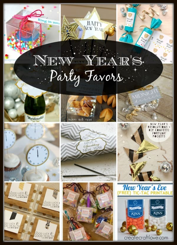 A collection of the CUTEST New Year's Party Favors in blogland! via createcraftlove.com