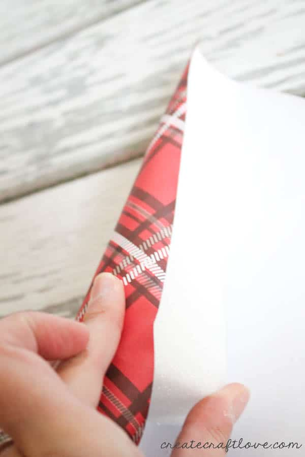 plaid wrapped trees 1