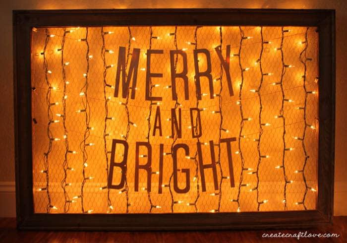 wood christmas banner