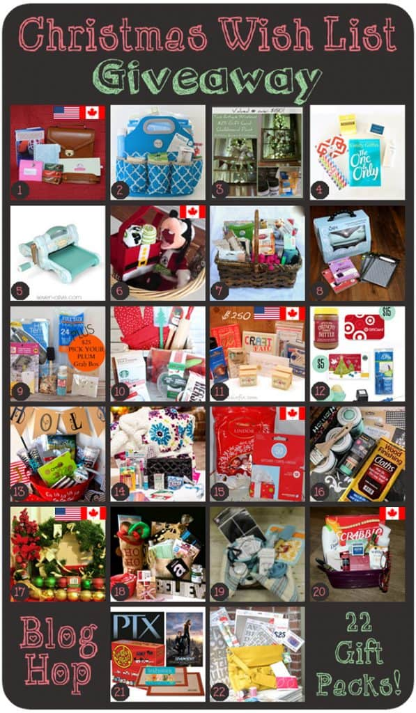 Christmas Wish List Giveaway!!  via createcraftlove.com