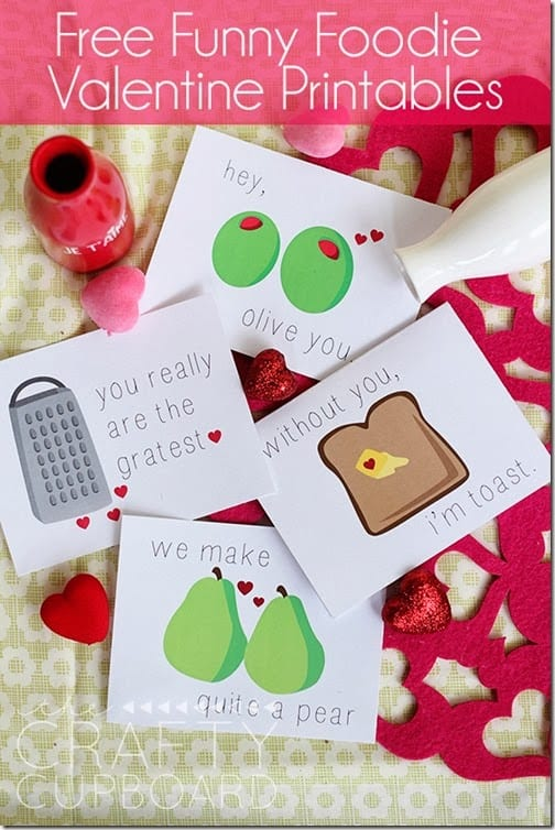 Free Funny Foodie Valentine Printables by the Crafty Cupboard_thumb[1]