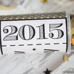 DIY Confetti Poppers to help ring in the new year! Includes free printable available at createcraftlove.com!