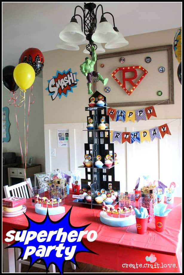 Superhero Party for boys birthday via createcraftlove.com!