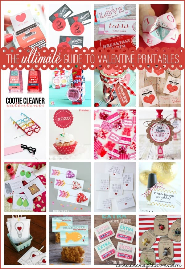 The ULTIMATE Guide to Valentine Printables via createcraftlove.com