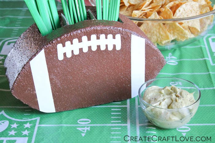 Football Utensil Holder - Create Craft Love