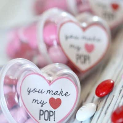 Heart Pop Valentine Printable