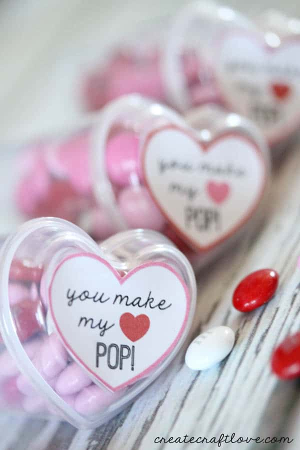 You Make My Heart Pop Valentine's Day idea!  via createcraftlove.com