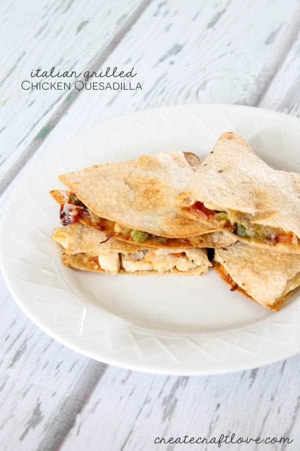 Italian Grilled Chicken Quesadilla