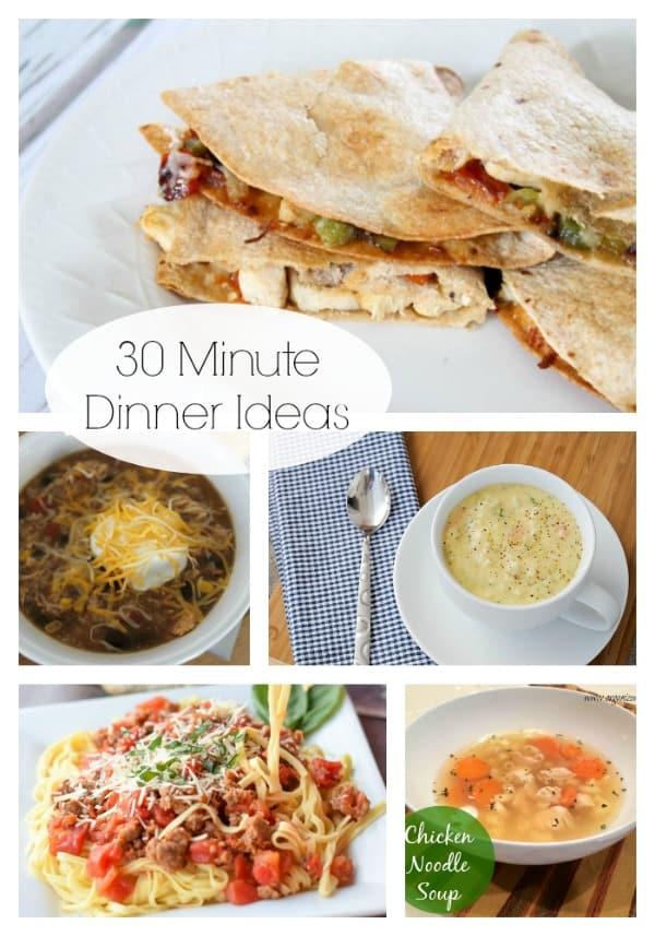 30 Minute Dinner Ideas via createcraftlove.com