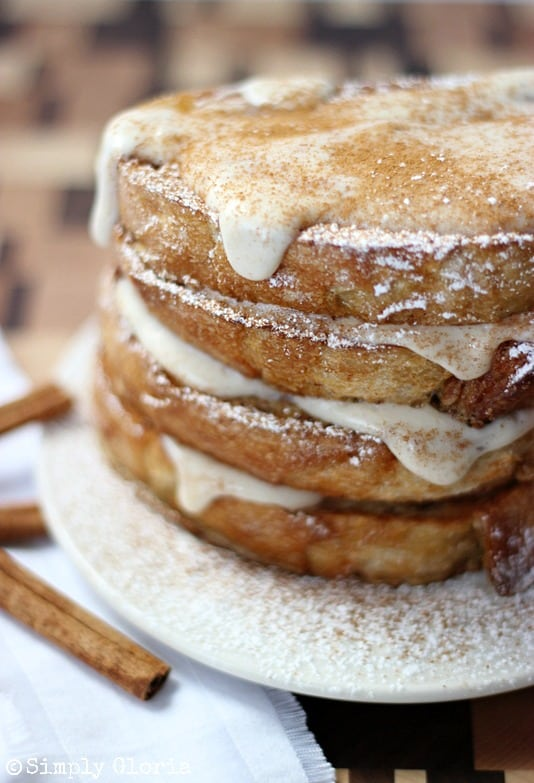 Cinnamon-French-Toast-with-Cream-Cheese-Glaze-by-SimplyGloria.com-frenchtoast
