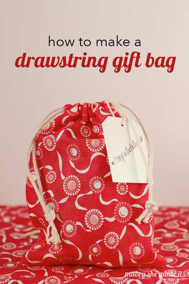 Add a bit of extra handmade love when gifting with this Drawstring Gift Bag!