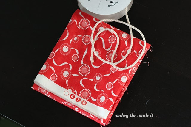 fat quarter for drawstring gift bag