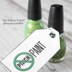 No Pinch Paint Free Printable for St. Patrick's Day! via createcraftlove.com