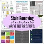 Stain Removing Cheat Sheets - taking the guess work out for you! via createcraftlove.com