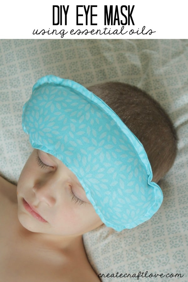 I made this DIY Eye Mask to help alleviate stress and tension after a long day!  via createcraftlove.com