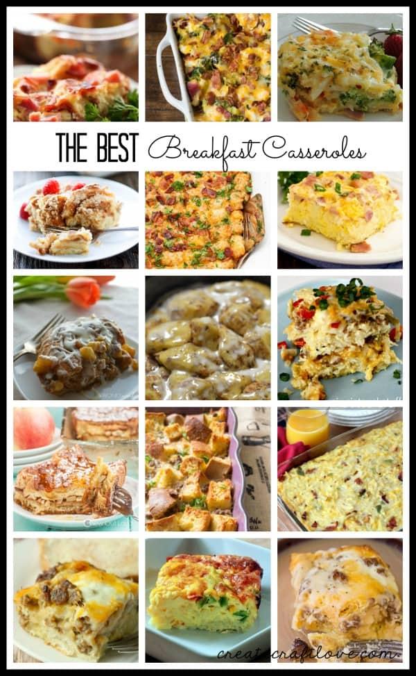 The BEST Breakfast Casserole Recipes in blogland! via createcraftlove.com