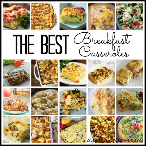 The BEST Breakfast Casserole Recipes in blogland! via createcraftlove.com