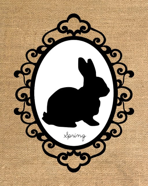 burlap bunny 8x10